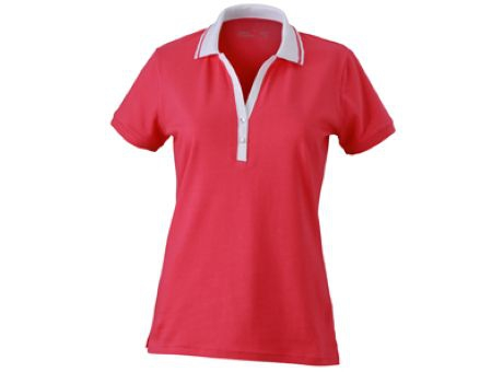 Ladies' Elastic Polo Short-Sleeved-Poloshirt mit hohem Tragekomfort